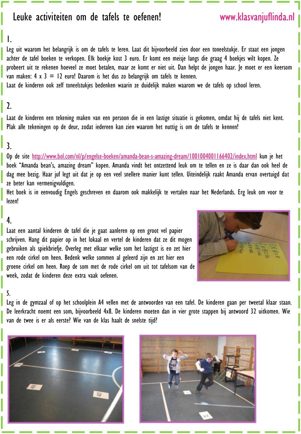 22 leuke activiteiten om de tafels te oefenen.