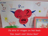 De drie W-vragen en het boek 'Een taart voor kleine beer'