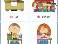 Woordkaarten: 'Welkom op school'