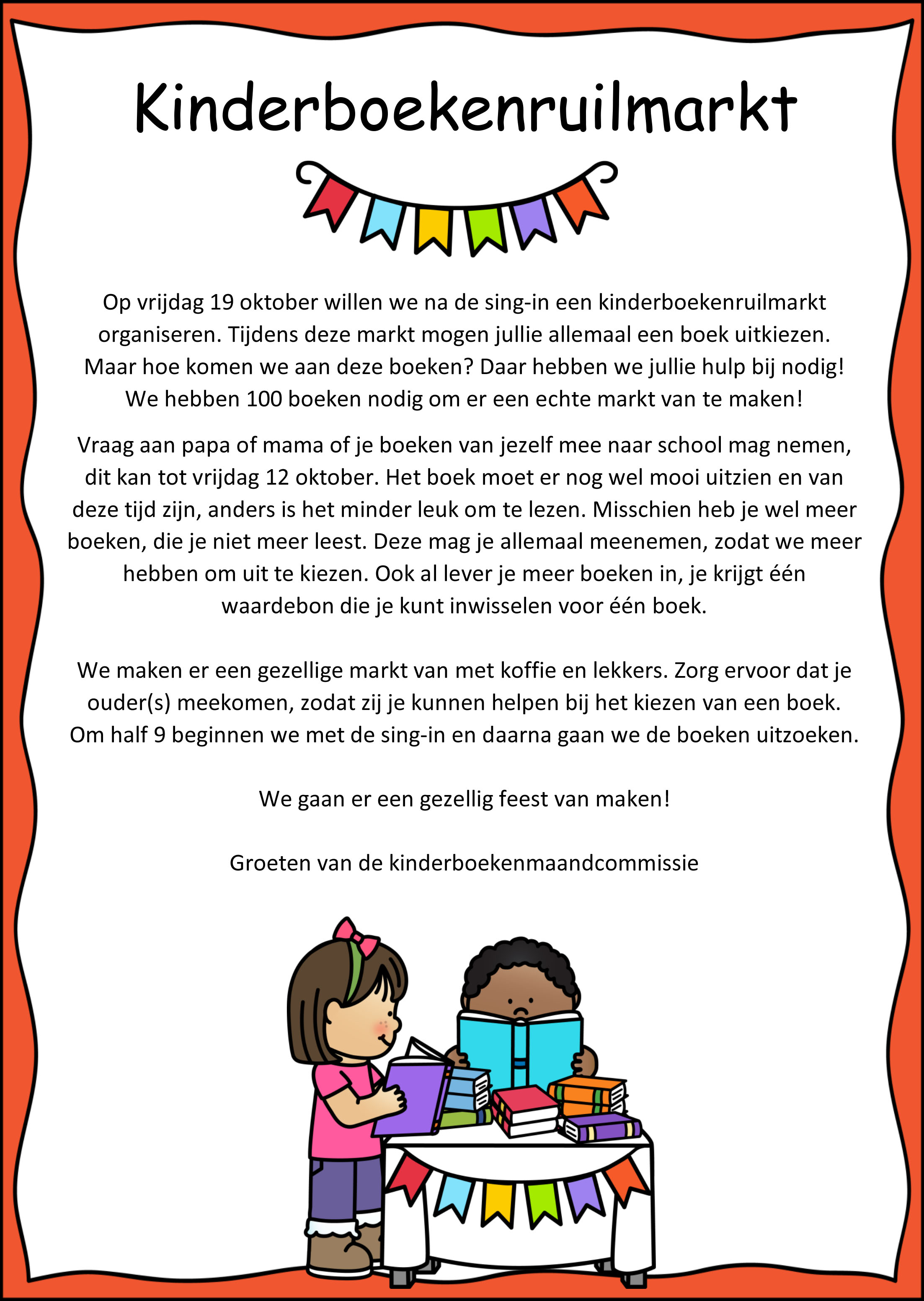Brief kinderboekenruilmarkt