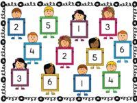 Spel Gooi en bedek met cijfers tot 6
