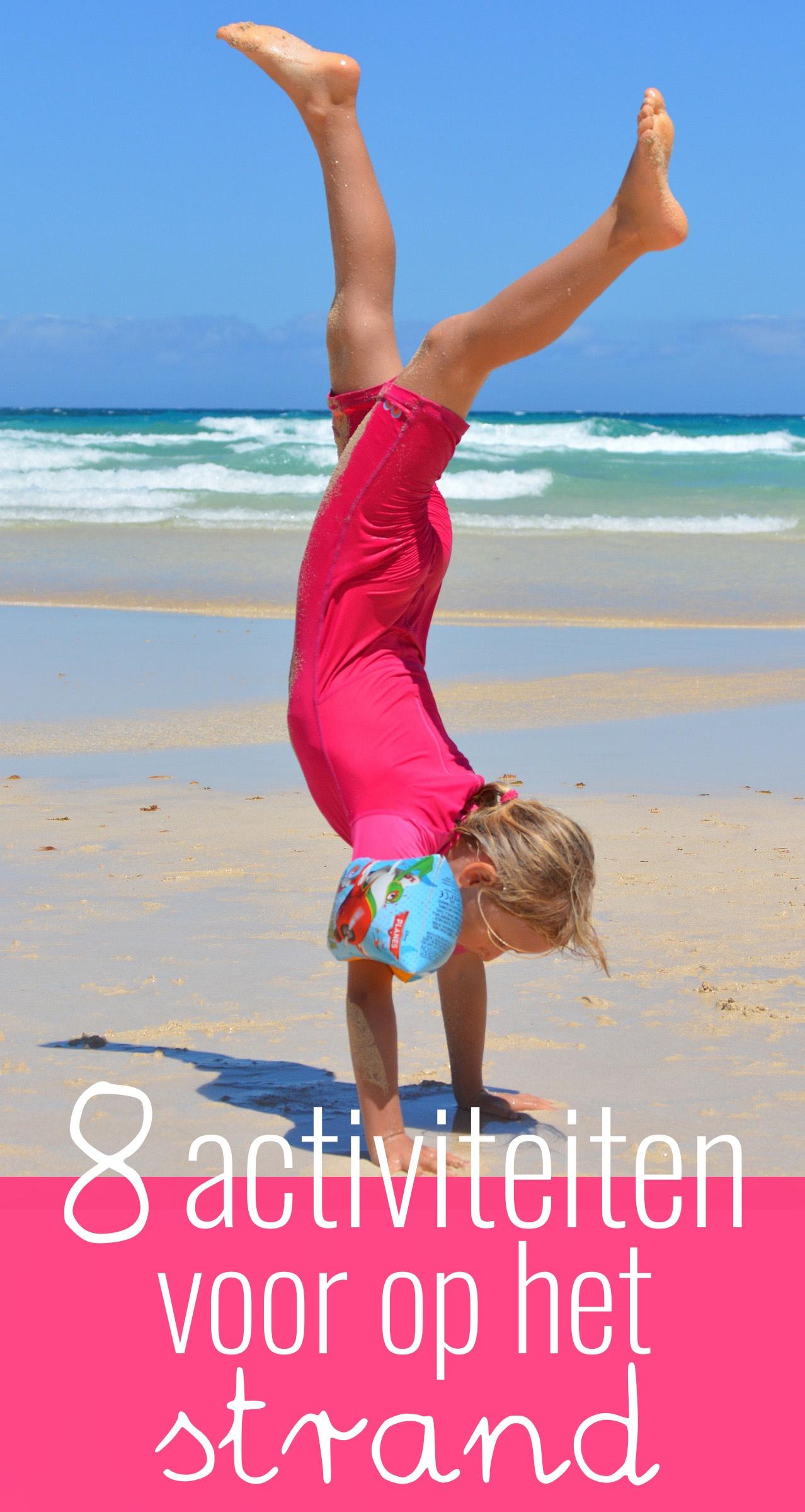 Op het strand kun je allerlei verschillende activiteiten ondernemen. Ik bedacht er acht en deel ze graag met je. Alleen de zon hoeft nog maar te schijnen!