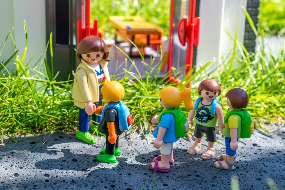 Playmobil 'de school' en 'schoolbus