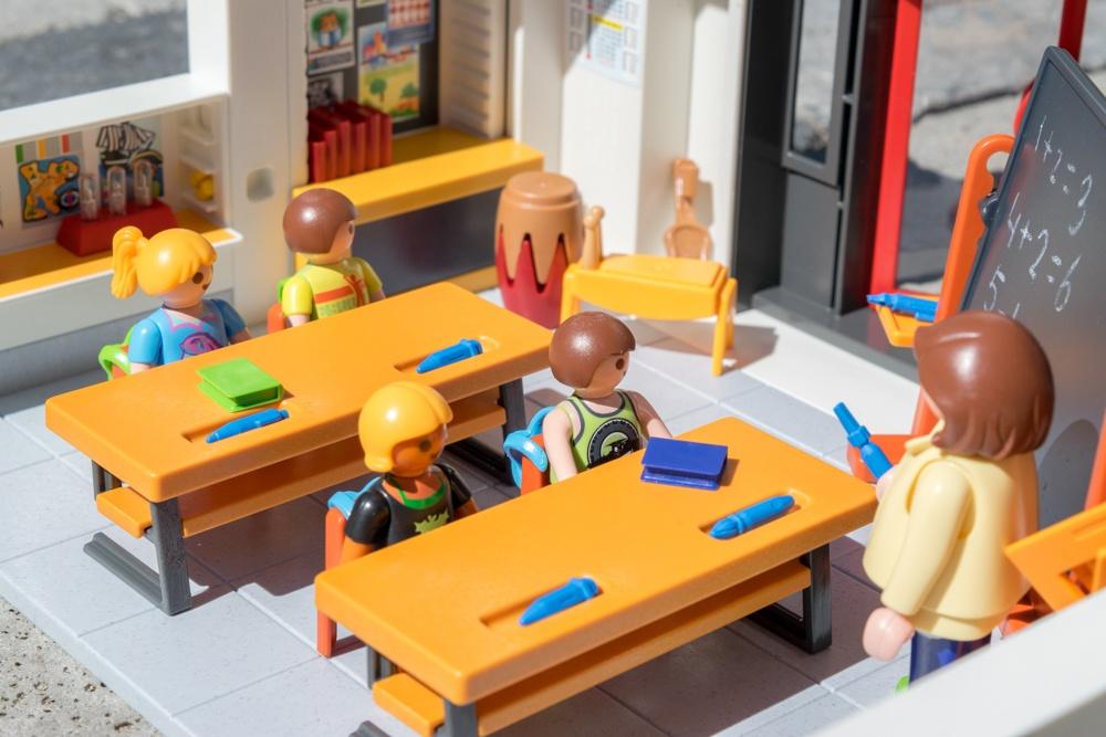 Playmobil 'de school' en 'schoolbus'