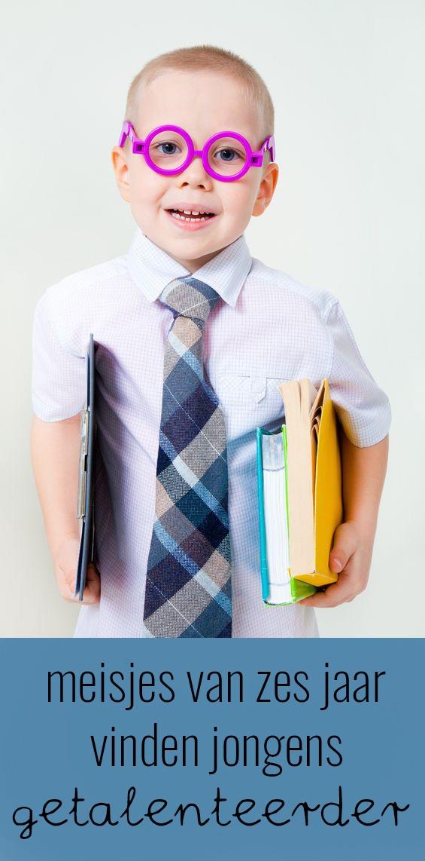 Meisjes van zes vinden jongens meer getalenteerd dan zichzelf