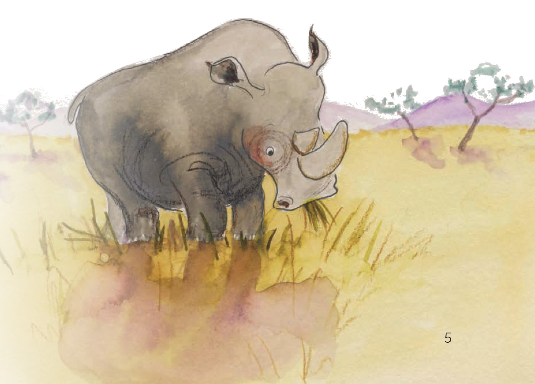 Grasje hier, grasje daar Rhino en zijn vrienden