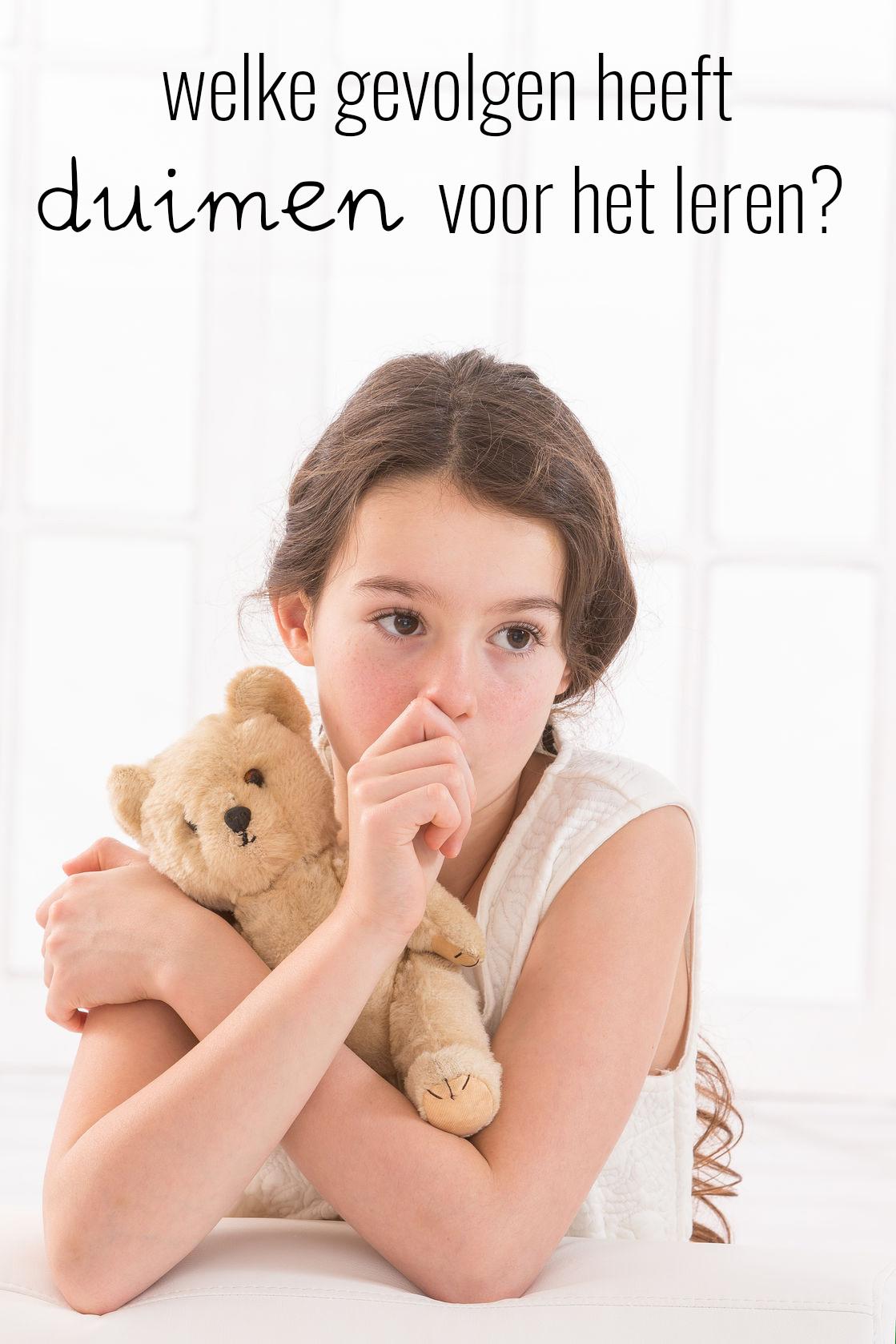 Welke gevolgen heeft duimen voor het leren?