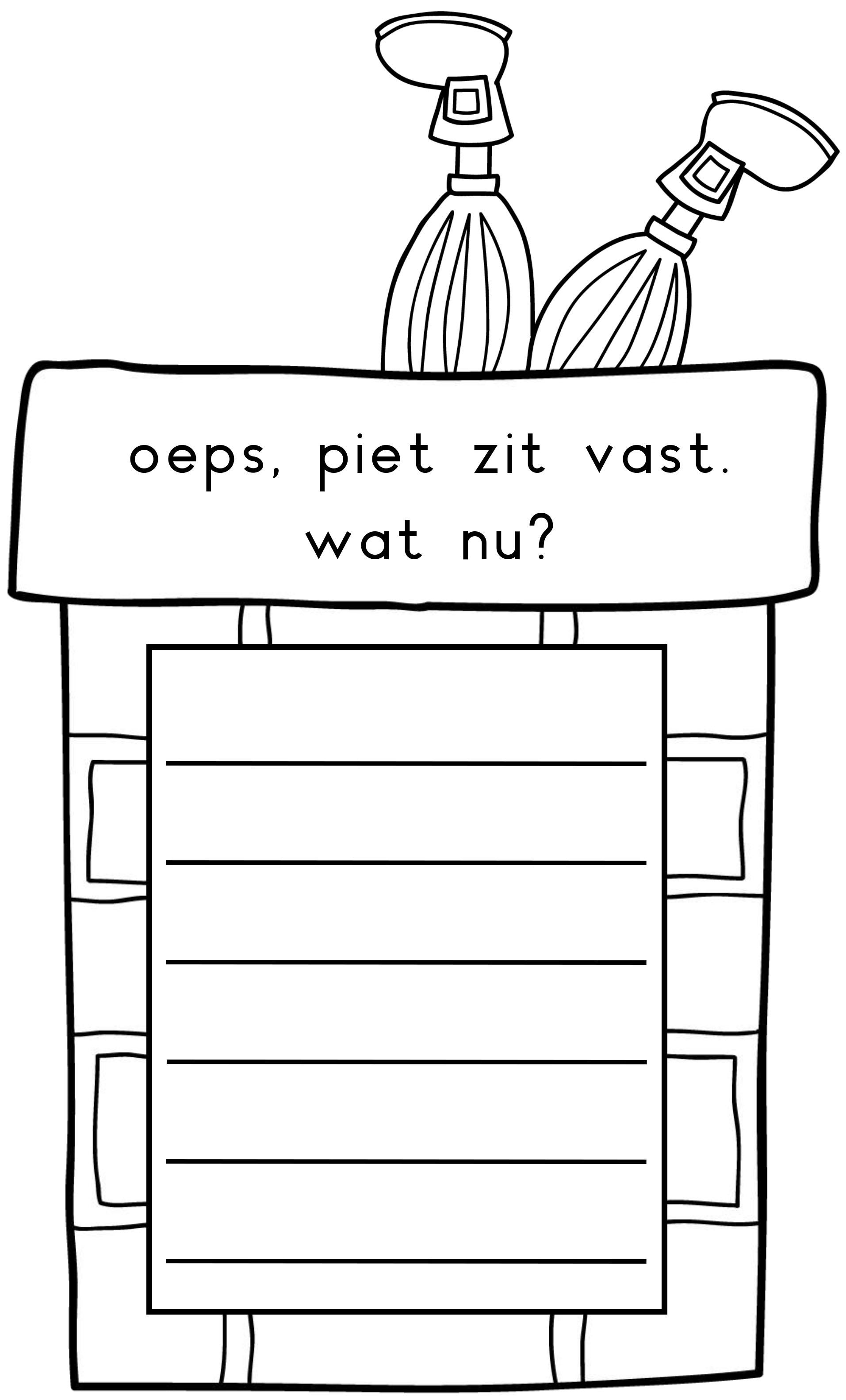 Schrijfopdracht schrijfhoek taal sinterklaas