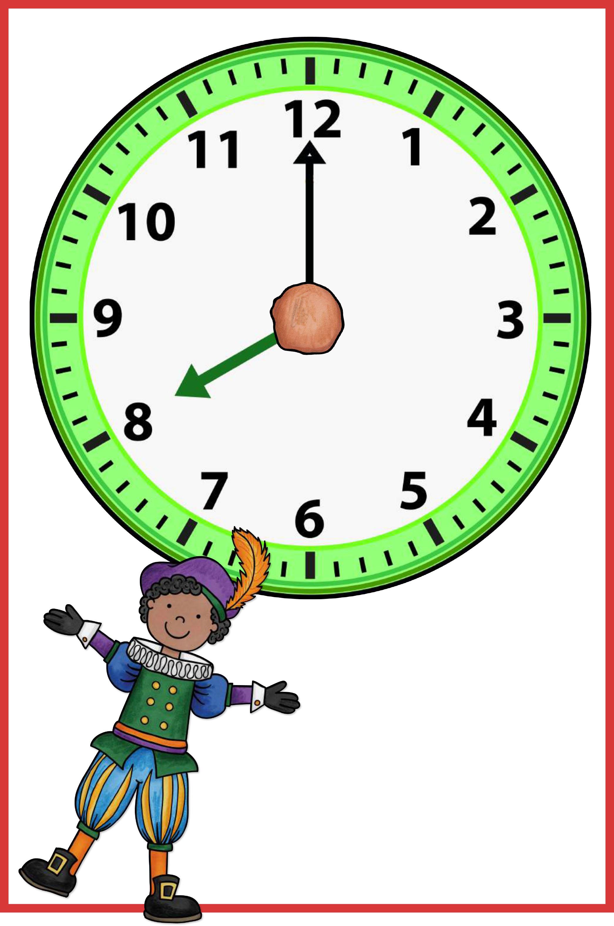 rekenen sinterklaas klokkijken hele uren