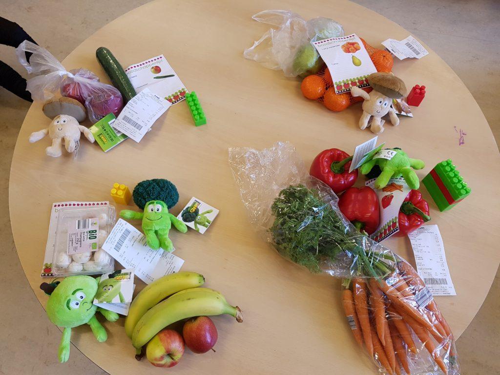 Thema groente en fruit bij de kleuters
