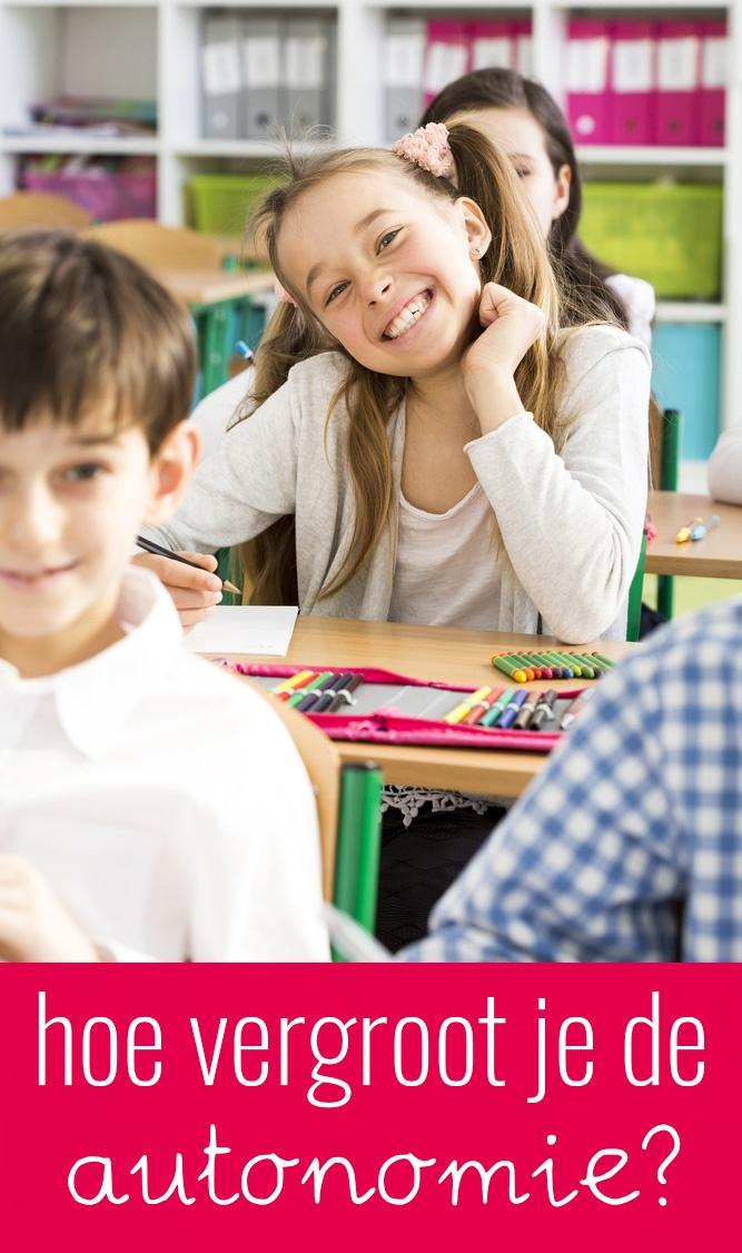 Hoe kan je de autonomie van een kind stimuleren?