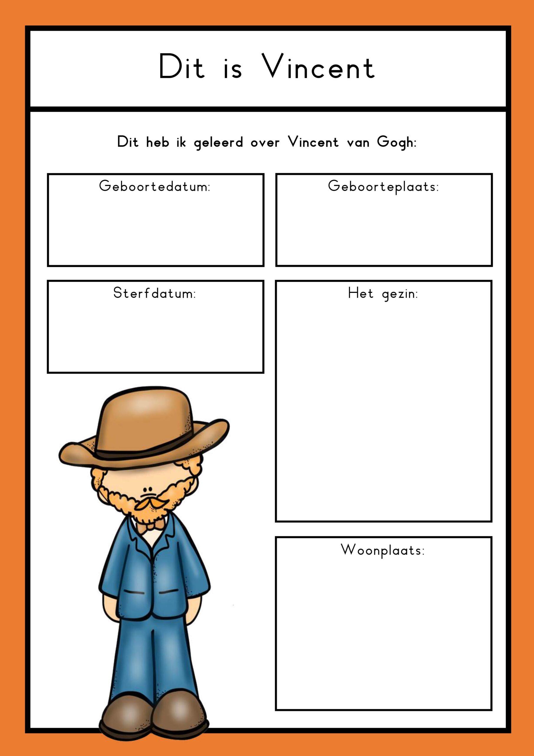 Thema kunst Vincent van Gogh