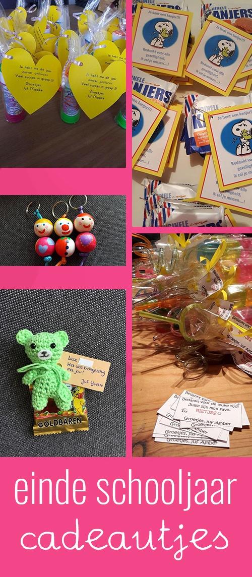 Einde schooljaar afscheidscadeautjes voor de kinderen