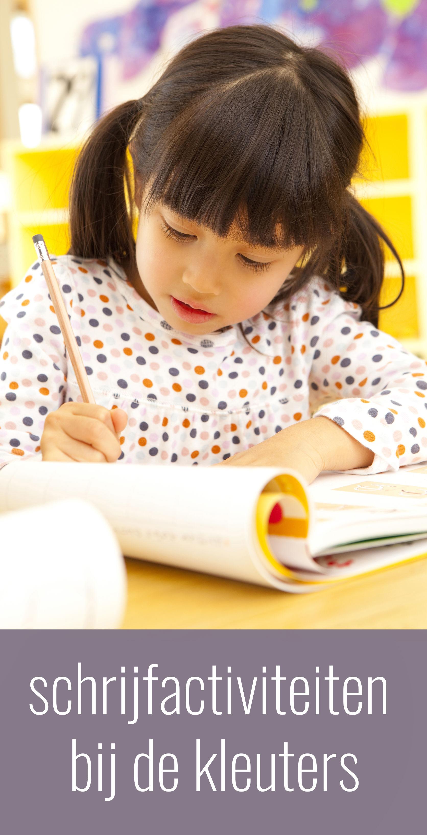 schrijfactiviteiten bij de kleuters