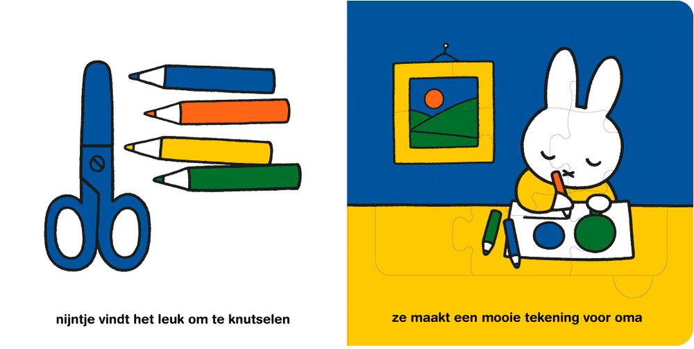 Puzzelboek: Nijntje logeert bij opa en oma