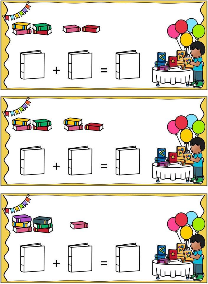 Hoeveel samen Aan de hand van sommenkaartjes oefenen de kinderen eenvoudige optel- en aftreksommen onder de 10.