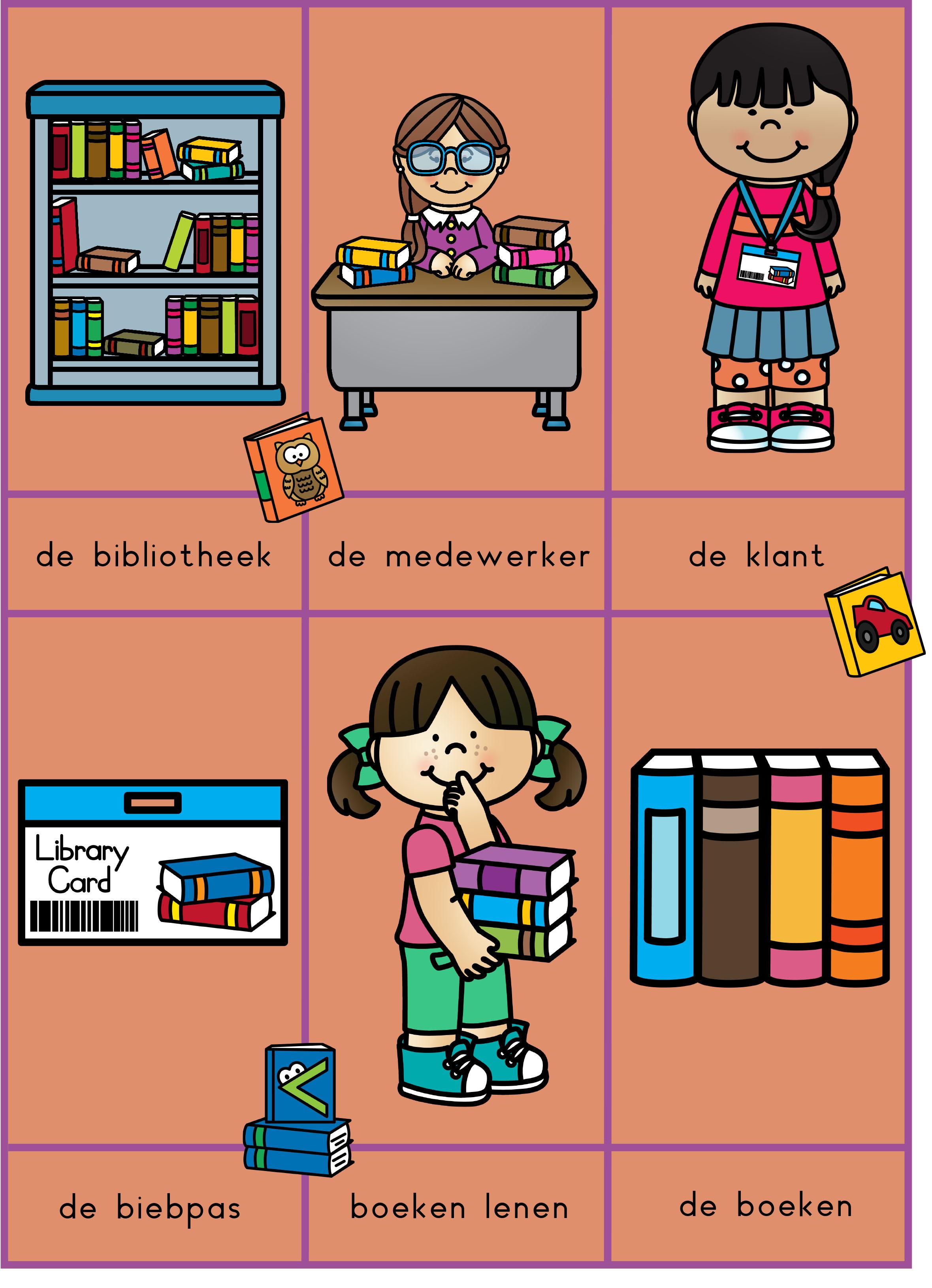 Woordkaarten bibliotheek