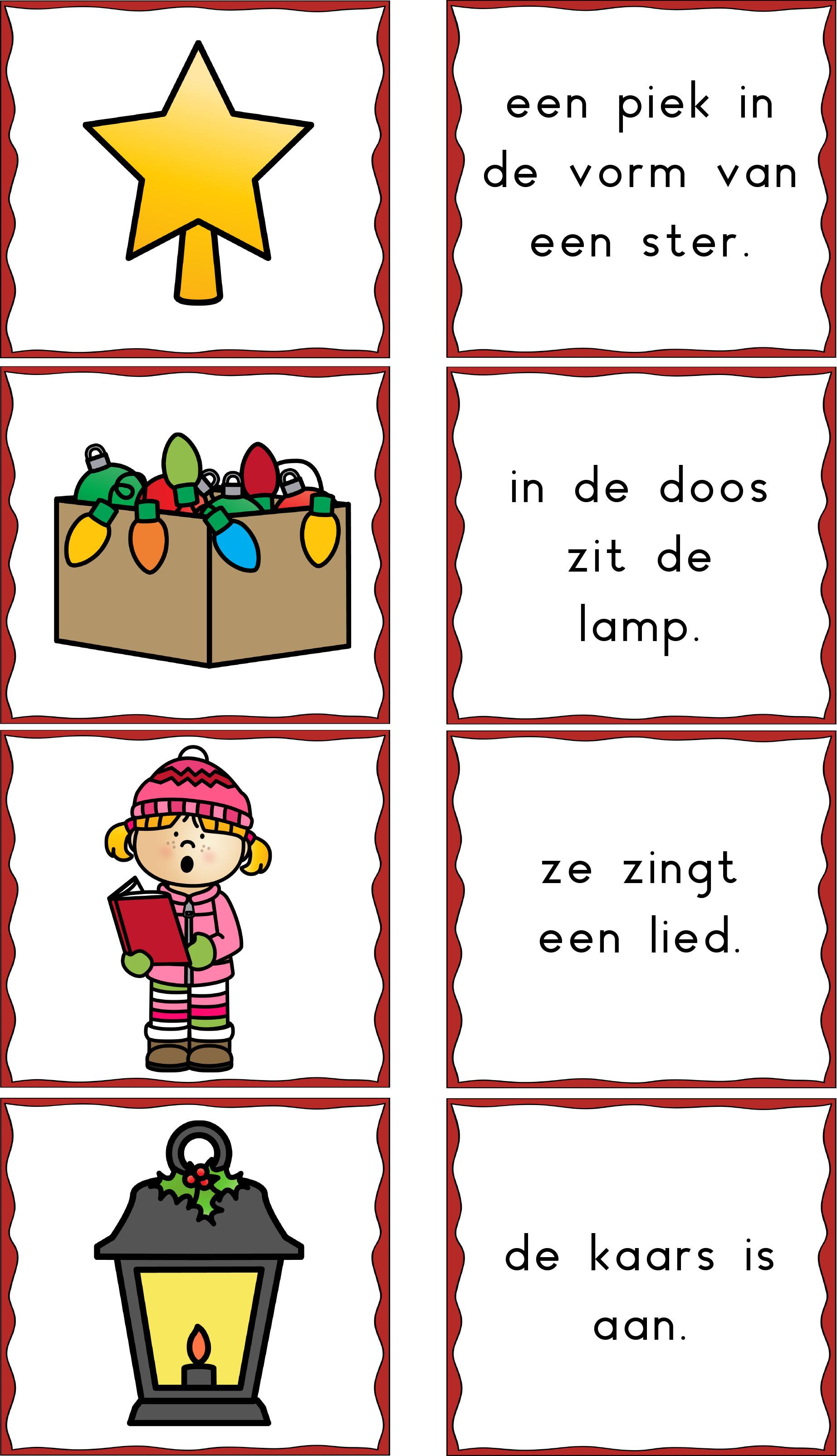 Memorie kerst zinnen