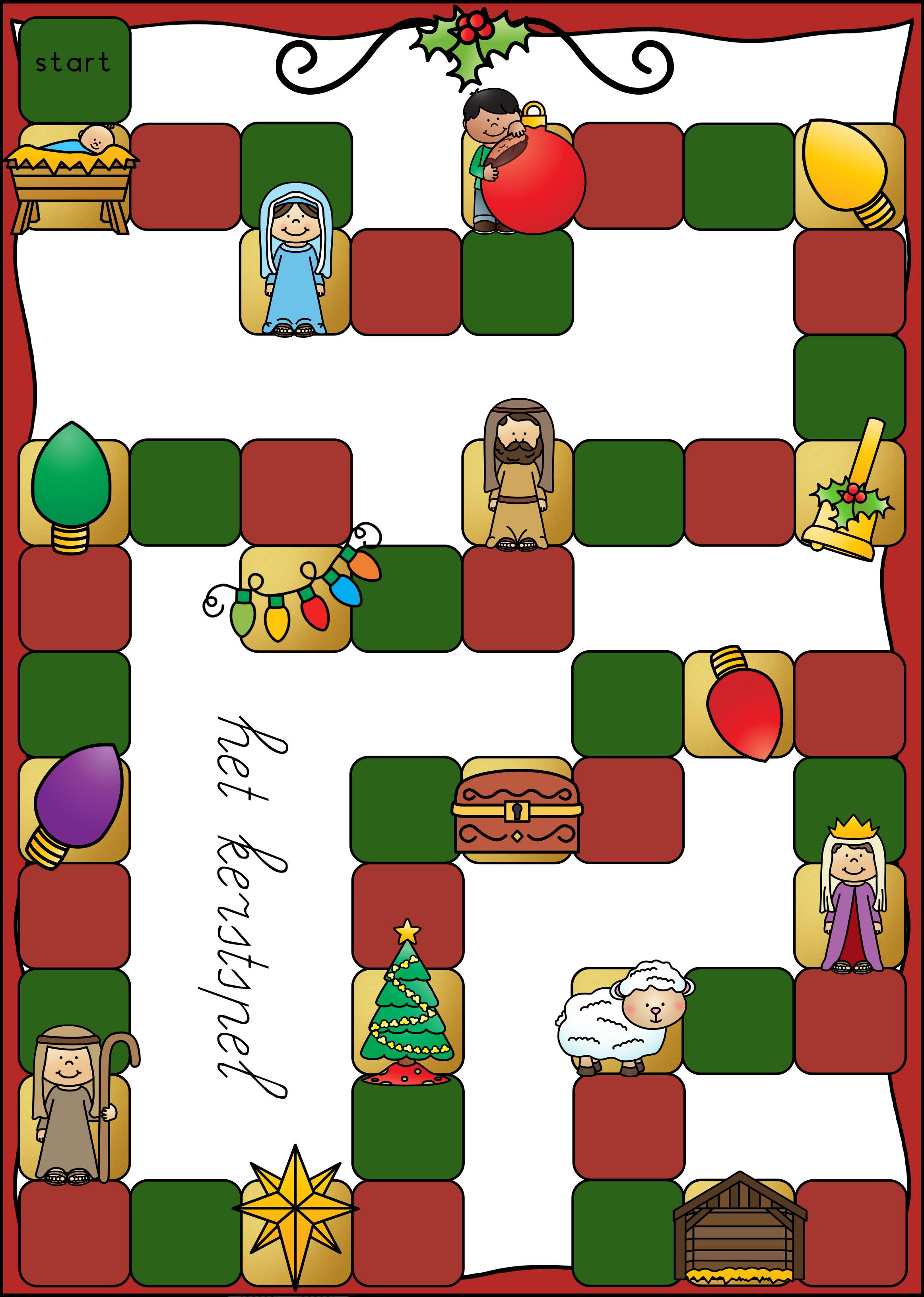 Spel kerst lezen woorden en zinnen groep 3
