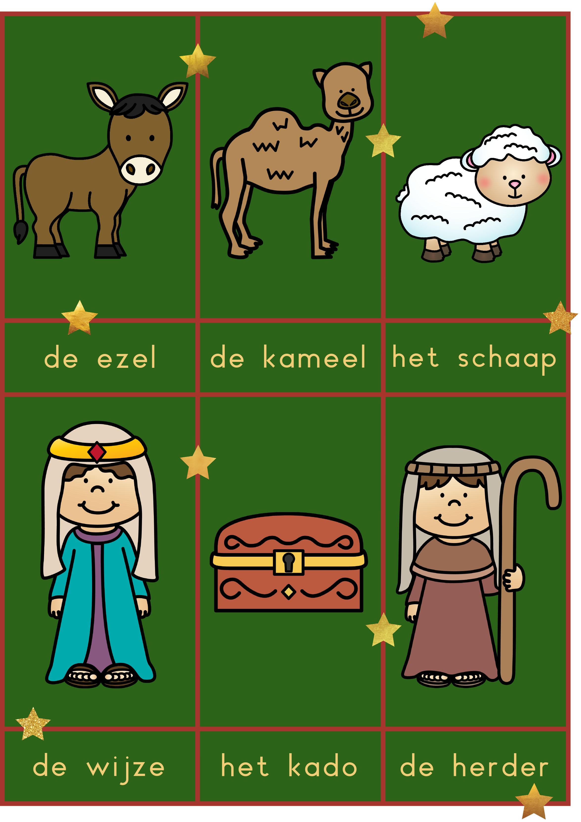 Woordkaarten kerst christelijk