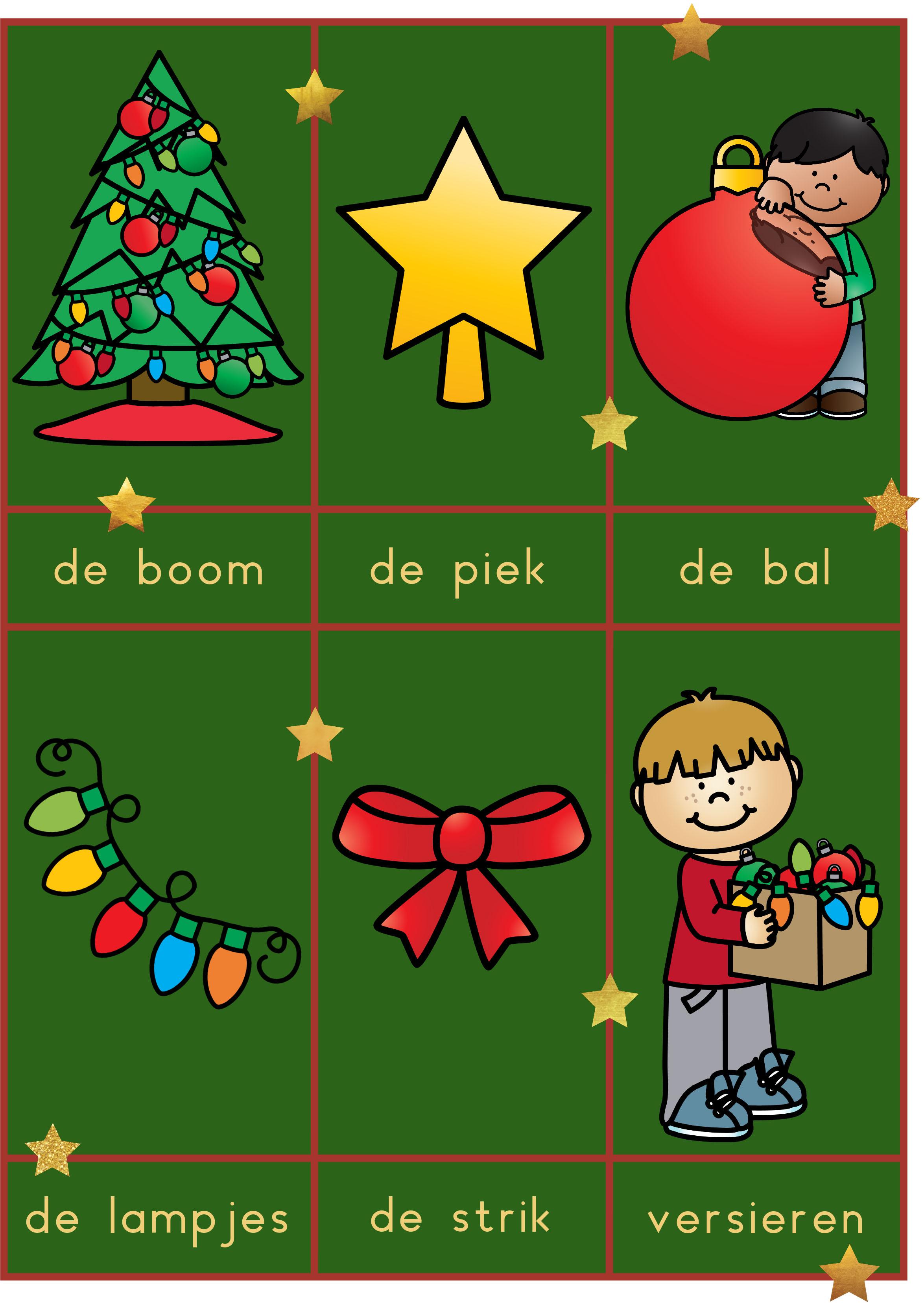 Woordkaarten kerst
