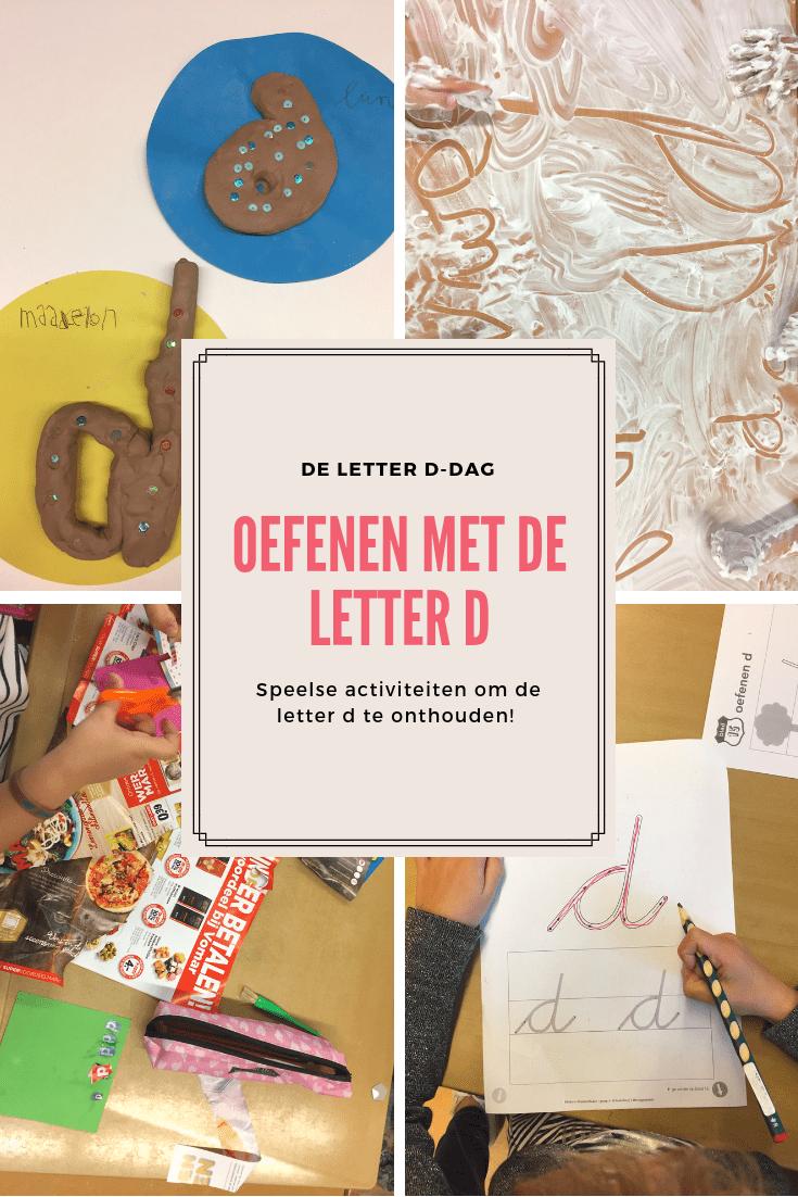 D-dag: oefenen met de letter d