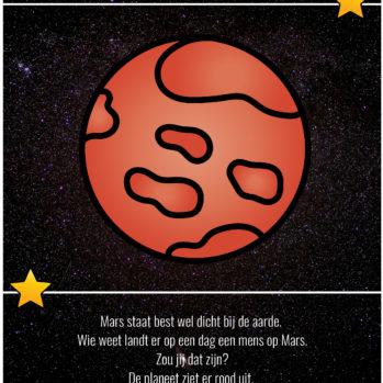 Teksten thema heelal