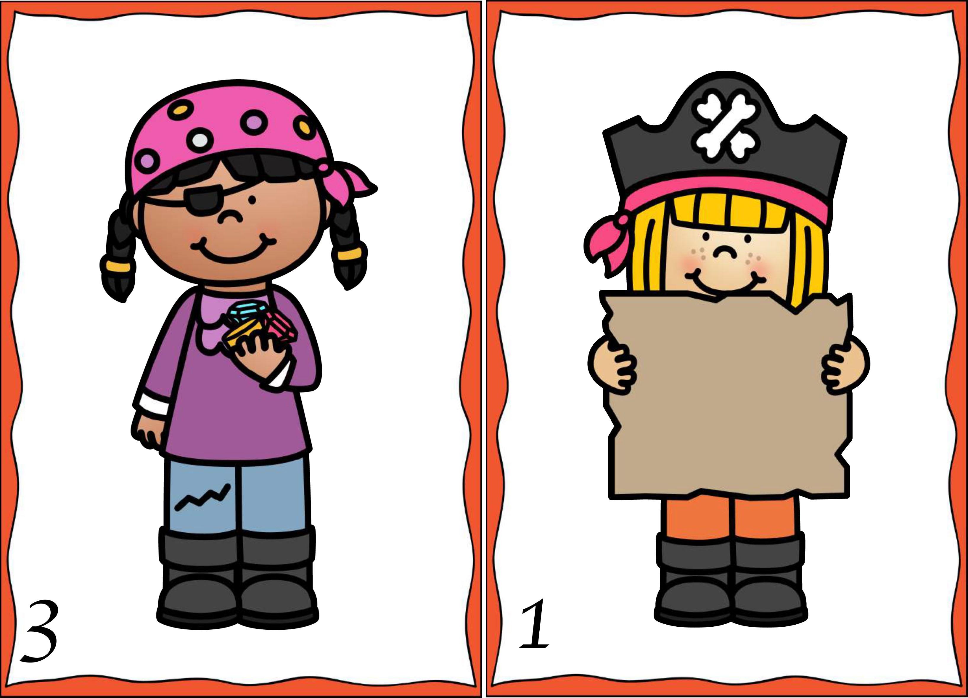 Taalspellen thema piraten - de schat