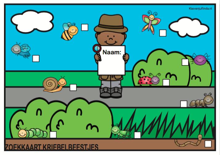Spel v/d maand: Zoekkaart kriebelbeestjes