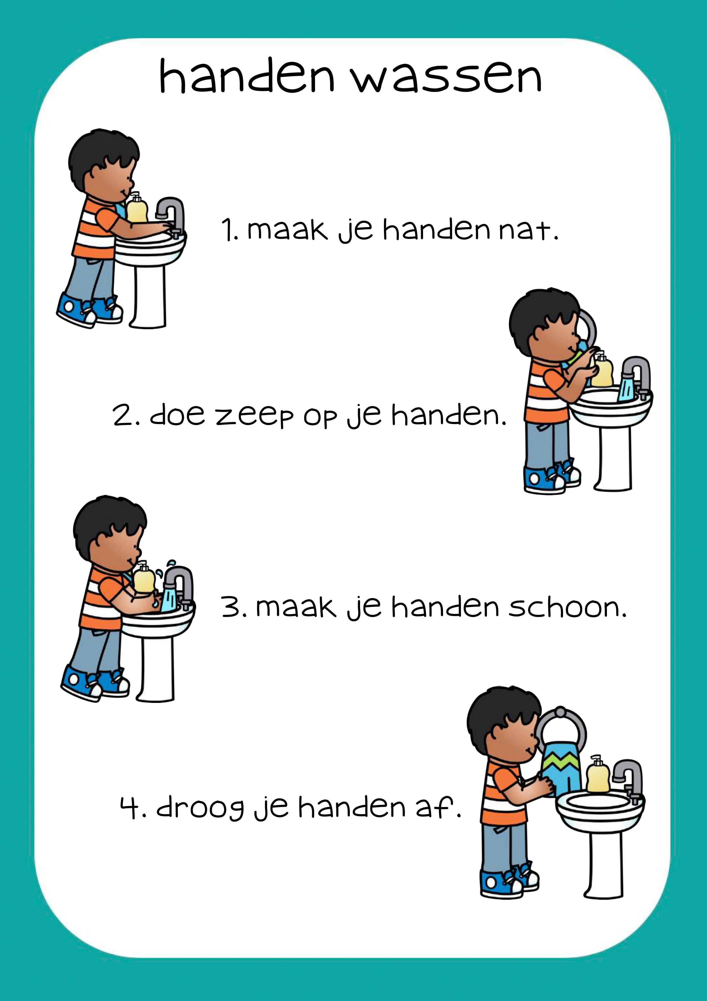 handen wassen stappenplan