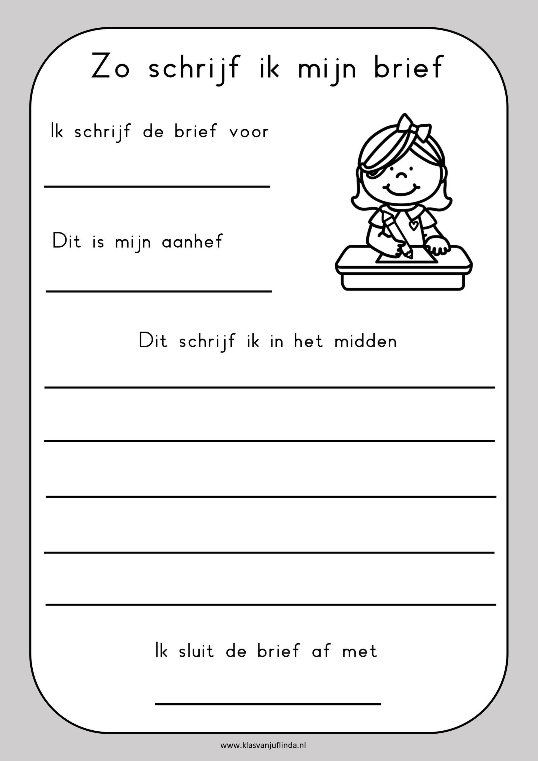 Schrijfopdracht: hoe schrijf je een brief?