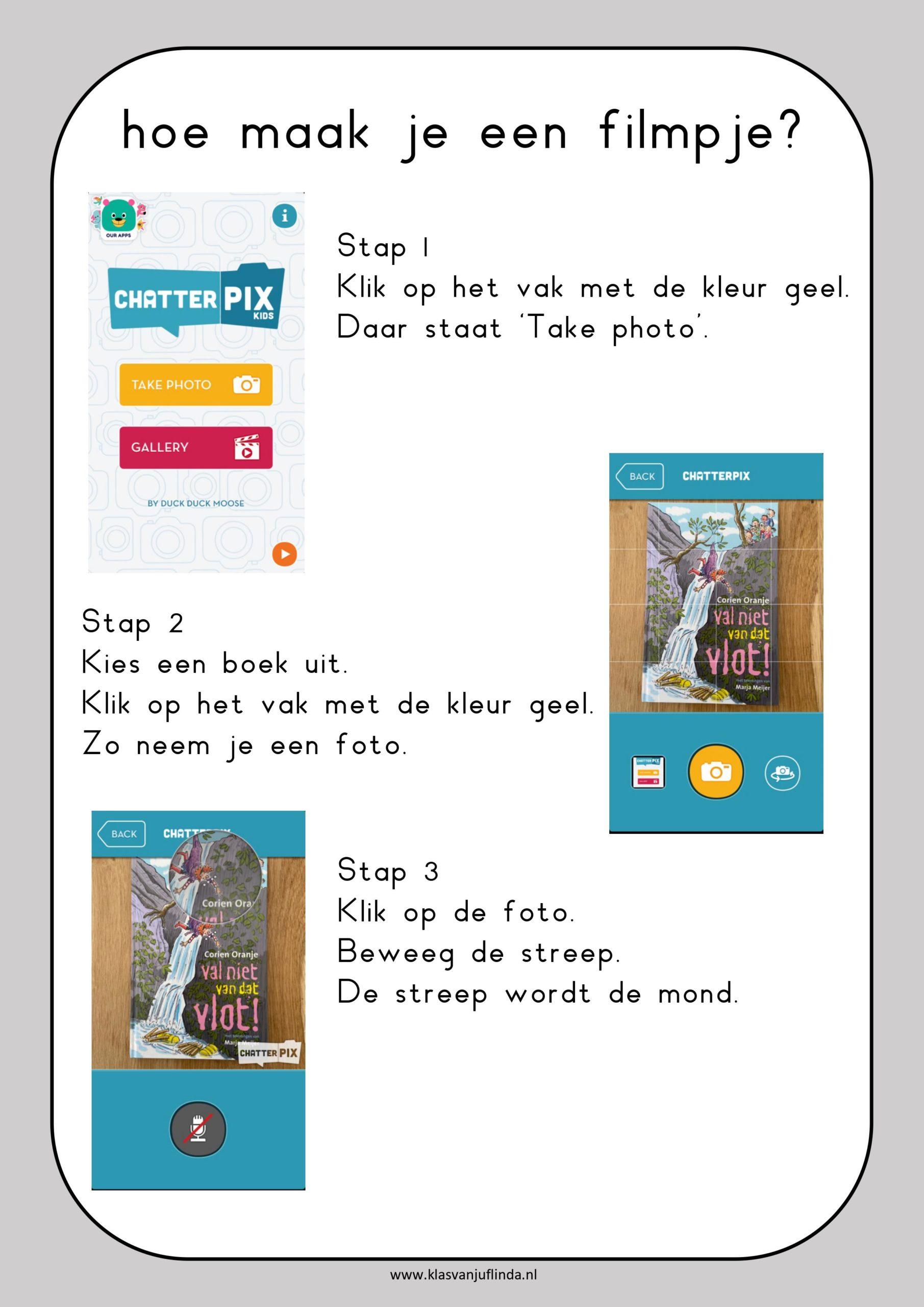 Lezen: maak een filmpje met ChatterPix
