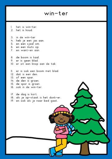 Tekst thema winter