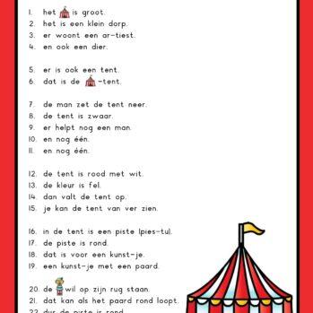 Teksten circus groep 3